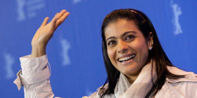 Indian actress Kajol Devgan poses at the photo call for the film 'My name is Khan' at the International Film Festival Berlinale in Berlin, Germany, Friday, Feb. 12, 2010. (AP Photo/Joel Ryan)