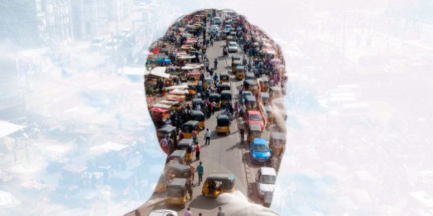 double exposure of man and Indian