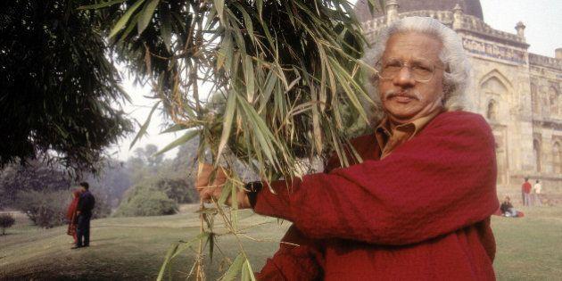 INDIA - JANUARY 06: Adoor Gopalakrishnan, Filmmaker standing near Humayun Tomb ( Bollywood, Portrait...