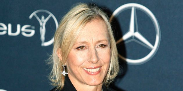 FILE - In this Feb. 6, 2012 file photo, former tennis player Martina Navratilova, arrives for the Laureus...
