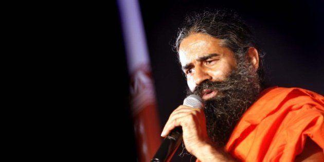 NEW DELHI, INDIA - OCTOBER 9: Yoga Guru Baba Ramdev addresses during a press conference on October 9,...