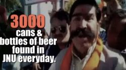 BJP Lawmaker Got His 3,000 Condoms & Beer Bottles Info At JNU Info From