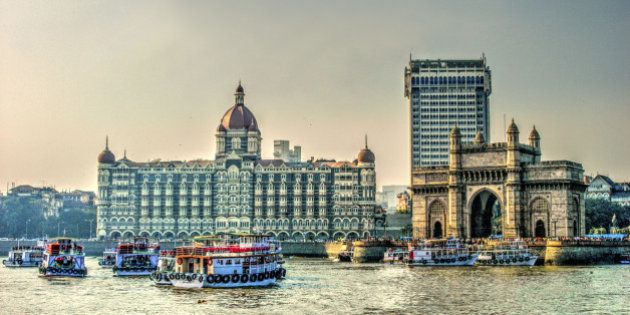 HDR image of Gateway of India and Tajmahal Hotel, Mumbai,