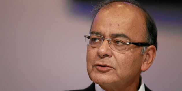 Arun Jaitley, Minister of Finance, Corporate Affairs and Information and Broadcasting of India is captured...