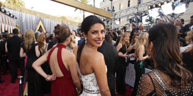 Priyanka Chopra arrives at the Oscars on Sunday, Feb. 28, 2016, at the Dolby Theatre in Los Angeles....