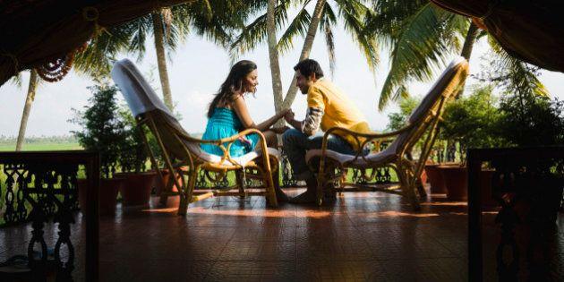 Couple sitting on