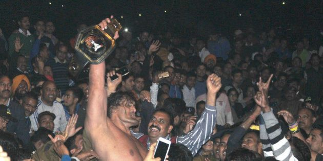 DEHRADUN, INDIA - FEBRUARY 28: Dalip Singh Rana, a former WWE (World Wrestling Entertainment) wrestler...