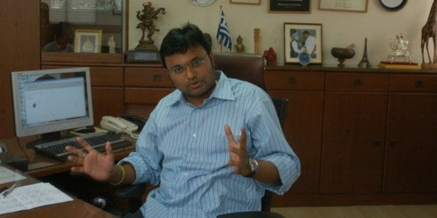 INDIA - FEBRUARY 03: Karthi Chidambaram, Succesful Politician, Businessman and son of P Chidambaram,...