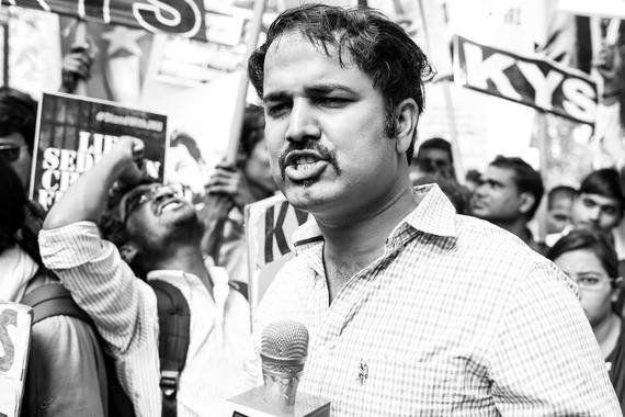 Photoblog: 'Covering' A Protest For Kanhaiya, Umar And
