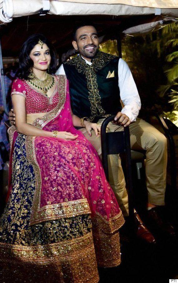 PHOTOS: Cricketers Robin Uthappa, Dhawal Kulkarni Begin Their Innings As Married