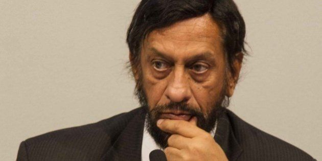 COPENHAGEN, DENMARK - NOVEMBER 2: Rajendra K. Pachauri, chair of the IPCC, attends the press conference...