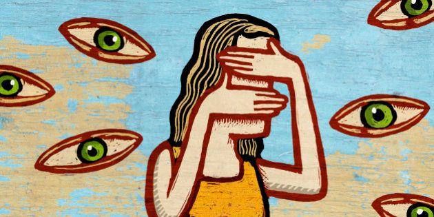 Woman Avoiding Prying