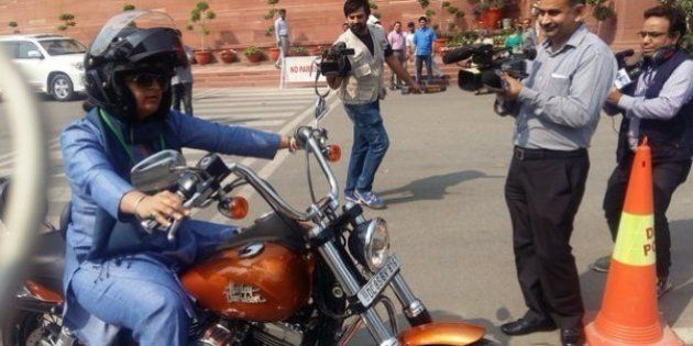This Woman Lawmaker Rode A Harley To Parliament
