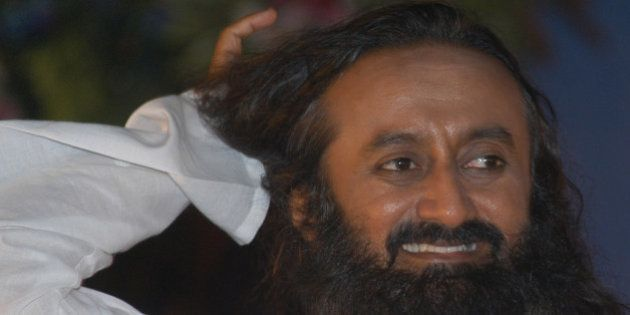 Sri Sri Ravi Shankar, an Indian scholar who teaches people how to overcome stress by using