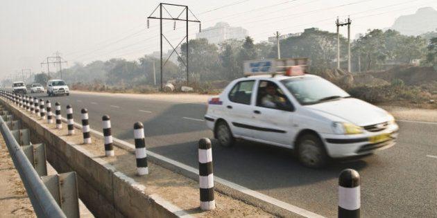 Cars on the road, Gurgaon, Haryana,