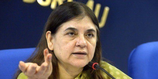 NEW DELHI,INDIA SEPTEMBER 17: Union Cabinet Minister for Women & Child Development Maneka Sanjay Gandhi...