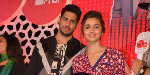 MUMBAI, INDIA FEBRUARY 23: Siddharth Malhotra and Alia Bhatt at the launch of the latest season of MTV...