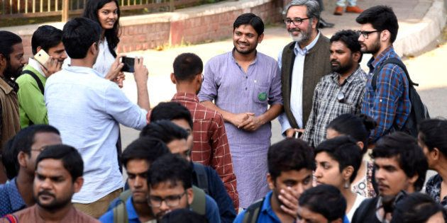 NEW DELHI, INDIA - MARCH 9: Jawaharlal Nehru University Students' Union President Kanhaiya Kumar at JNU...