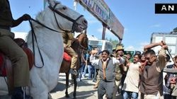 BJP MLA Violently Thrashes Police Horse With Lathi, Cripples