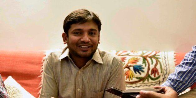 NEW DELHI, INDIA - MARCH 4: Jawaharlal Nehru University Students Union President Kanhaiya Kumar having...
