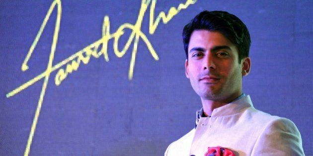 Pakistani film and television actor Fawad Afzal Khan poses during the launch of the new Giovanni FW15...