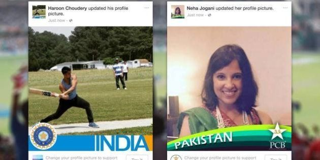 Indians And Pakistanis Are Swapping Cricket Team Colours On Facebook Profile Pics For