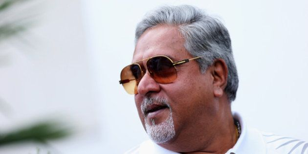 BUDAPEST, HUNGARY - JULY 28: Force India Chairman Vijay Mallya is seen during qualifying for the Hungarian...
