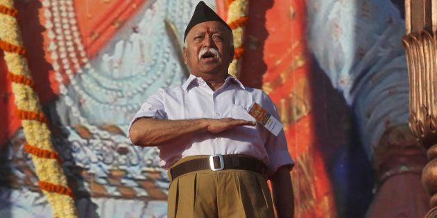 Hindu nationalist Rashtriya Swayamsevak Sangh (RSS) or the National Volunteers Association chief Mohan...