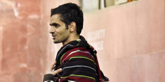 NEW DELHI, INDIA - FEBRUARY 23: JNU student Umar Khalid at JNU Campus on the night of February 23, 2016...