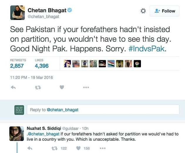 Laugh Riot Erupted On Twitter (And Chetan Bhagat Managed To Get Burnt) As India Beat