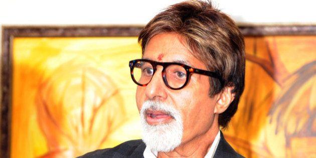 Indian Bollywood star Amitab Bachchan arrives in the Bandaranaike International airport in Katunayaka,...