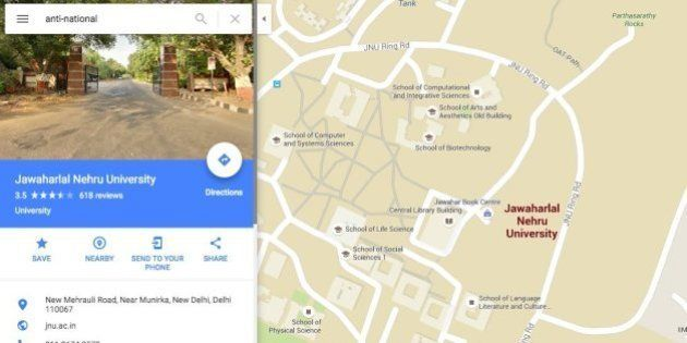 Google Maps Takes You Here If You Search For