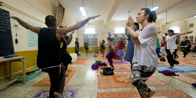 MUMBAI, INDIA JUNE 16: Yoga Studio offering regular yoga classes for the benefit of their members at...