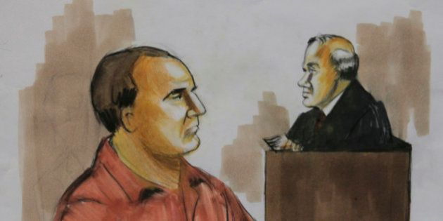 FILE - In this Wednesday, Dec. 9, 2009 courtroom drawing, David Coleman Headley, left, pleads not guilty...