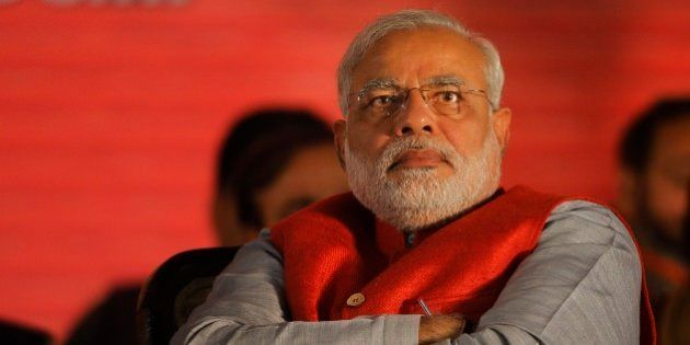 India's main opposition Bharatiya Janata Party (BJP) prime ministerial candidate Narendra Modi attends...
