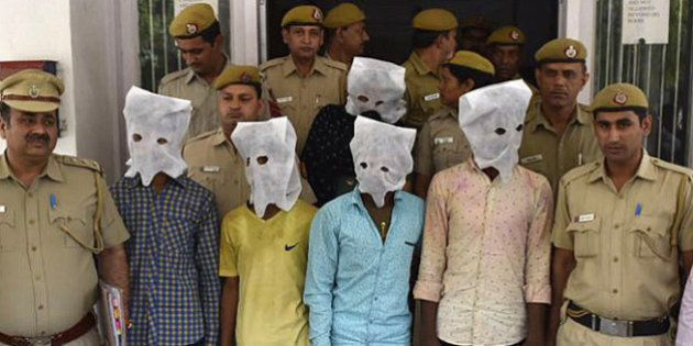 NEW DELHI, INDIA - MARCH 25: Delhi Police arrest 5 accused after a 40-year-old dentist Pankaj Narang...