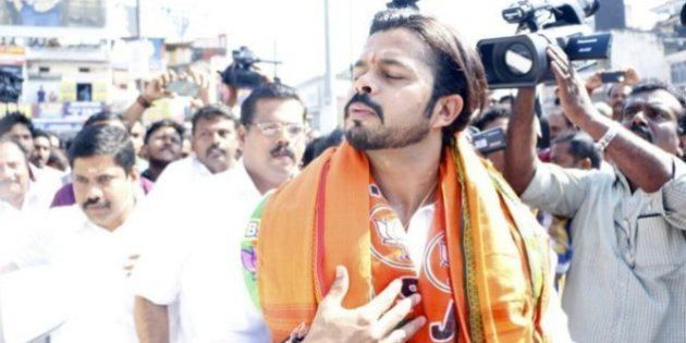 Sreesanth Joins BJP With Lotus In Hand And Twitter Tries To Figure What's On His