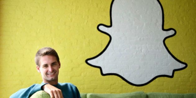 FILE - In this Thursday, Oct. 24, 2013, file photo, Snapchat CEO Evan Spiegel poses for a photo in Los...