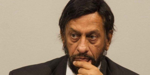 COPENHAGEN, DENMARK - NOVEMBER 2: Rajendra K. Pachauri, chair of the IPCC, attends the press conference about the fifth assessment report during the Intergovernmental Panel on Climate Change (IPCC) at the Tivoli Hotel & Congress Center in Copenhagen, Denmark on November 2, 2014. (Photo by Freya Ingrid Morales/Anadolu Agency/Getty Images)