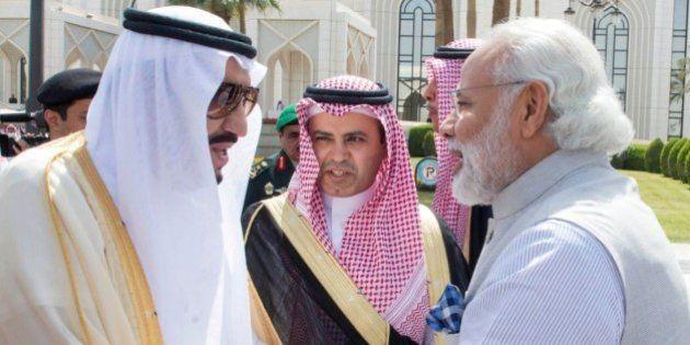 A handout picture provided by the Saudi Press Agency (SPA) on April 3, 2016 shows Saudi King Salman bin...