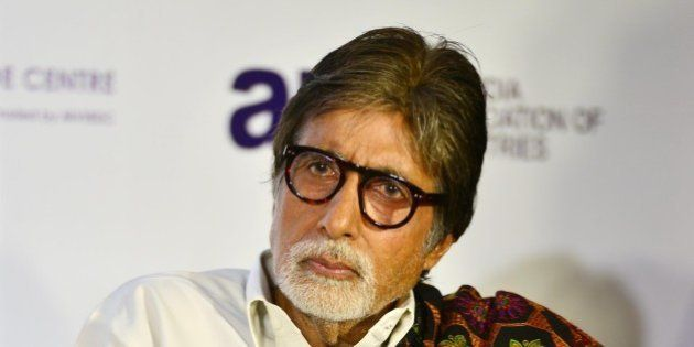 MUMBAI, INDIA FEBRUARY 19: Amitabh Bachchan during the launch of Shatrughan Sinha's biography Anthing...