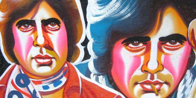 [Hand-painted Rickshaw Mudflap] Amitabh Bachchan in