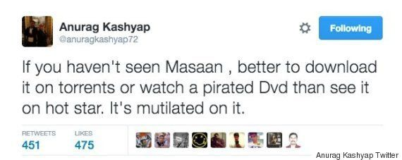 'Masaan' Censored On Hotstar; Makers Cry Foul And Urge Viewers To Watch Film On DVD,