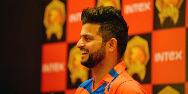Indian Premier League Gujrat Lions cricket team captain Suresh Raina looks on during an event to unveil...