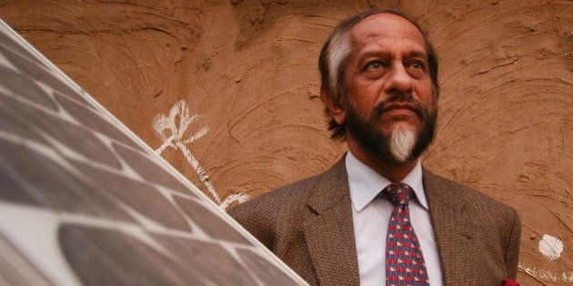 INDIA - FEBRUARY 05:  Dr Rajendra K Pachauri, Director-General of the Tata Energy Research Institute, became the first Indian to be elected Chairman of IPCC (Intergovernmental Panel on Climate Change), during the recent elections at the international scientific and technical body.  (Photo by Sumeet Inder Singh/The India Today Group/Getty Images)