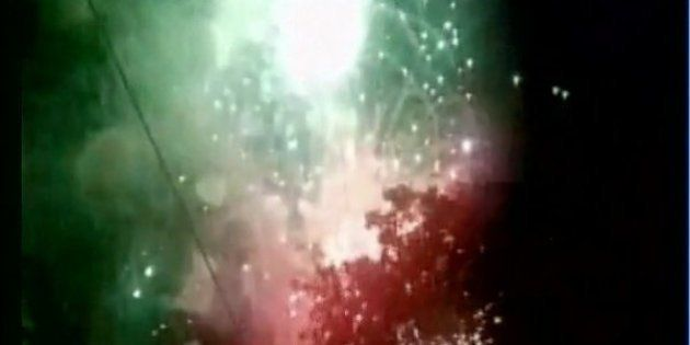 WATCH: Fire At Kollam Temple During Fireworks
