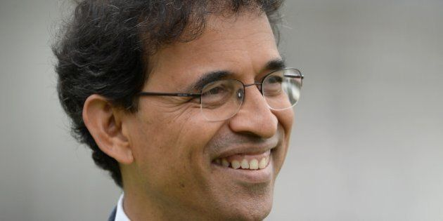 LONDON, ENGLAND - JULY 20: Star Sport commentator Harsha Bhogle during day four of 2nd Investec Test...