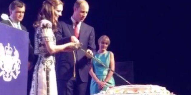 WATCH: Duke & Duchess Of Cambridge Cut Queen's Birthday Cake With