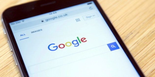 The Google internet homepage is displayed on a product at a store in London, Britain January 23, 2016. Google has agreed to pay 130 million pounds ($185 million) in back taxes to Britain, prompting criticism from opposition lawmakers and campaigners who said the