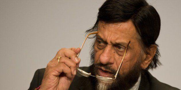 Rajendra Pachauri, Chairman of the Intergovernmental Panel on Climate Change (IPCC) addresses a press...